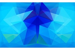 Triangle background. Blue polygons.