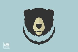 Minimal Bear Head Logo