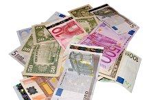 Euros and dollars