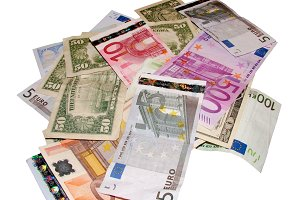 Euros and dollars