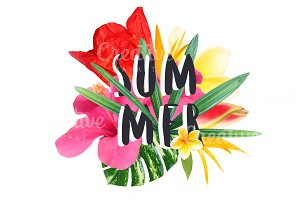 "Floral collage "" Summer"""