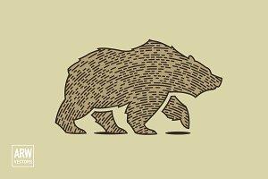 Woodcut Bear Logo