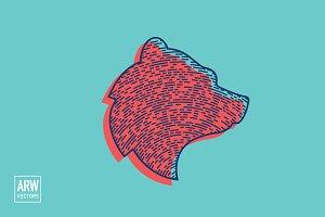 Stylistic Bear Head Logo