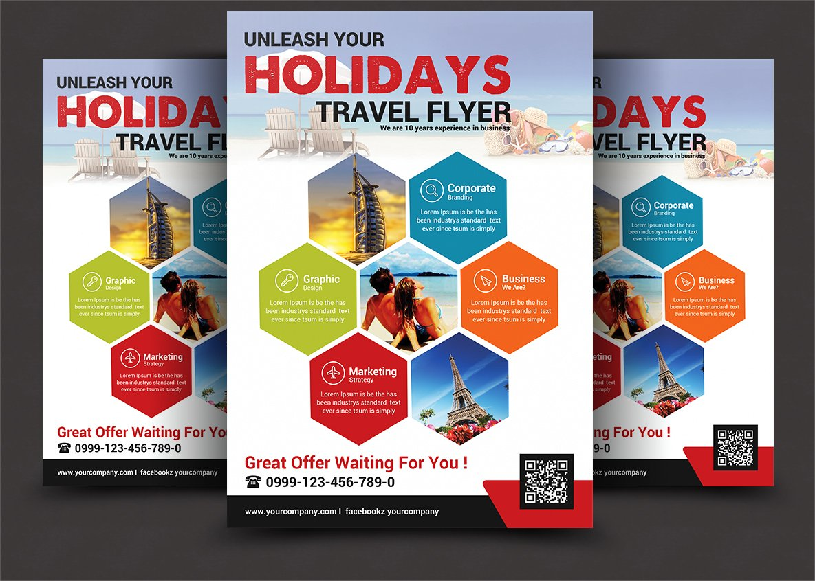 Travel Tours Flyer Template Flyer Templates Creative Market