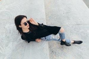 Stylish and fashionable model.