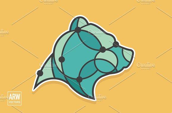 Geometric Bear Head Logo