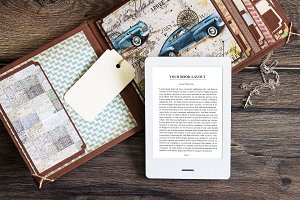 E-Book Reader,Mock-up
