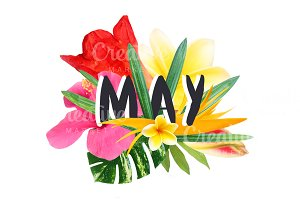 """Floral collage """"May"""""""