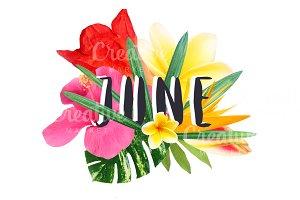 "Floral collage ""June"""