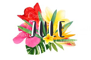 "Floral collage ""Jule"""