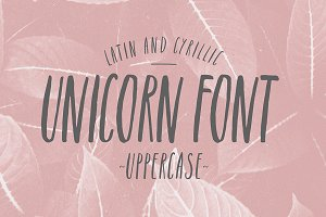 Unicorn font. Latin & Cyrillic