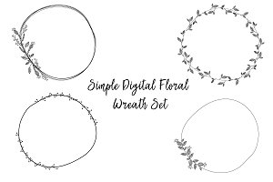 Simple Digital Wreath Set