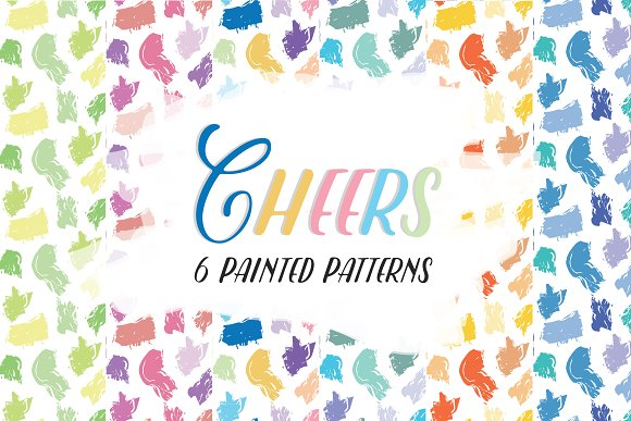 Cheers 6 Painted Patterns