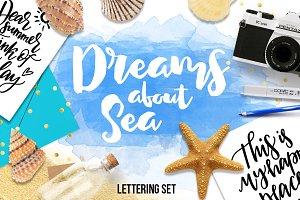 Dreams about sea - lettering set