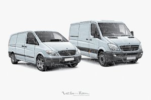 Two Light Commercial Vehicles