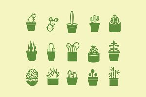 15 Cactus and Plant Icons