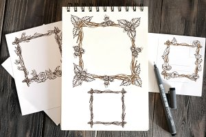 Square frames of branches