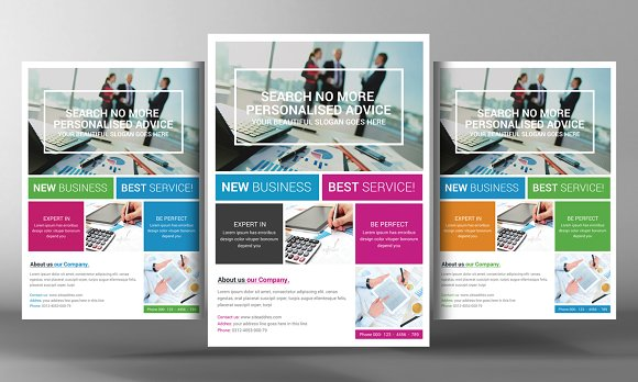 Marketing flyer template flyer templates creative market for Marketing brochure templates free