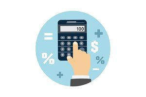 Calculator icon. Business concept