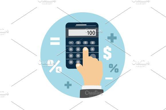 Calculator icon. Business concept - Graphics