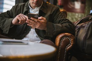 Man using mobile