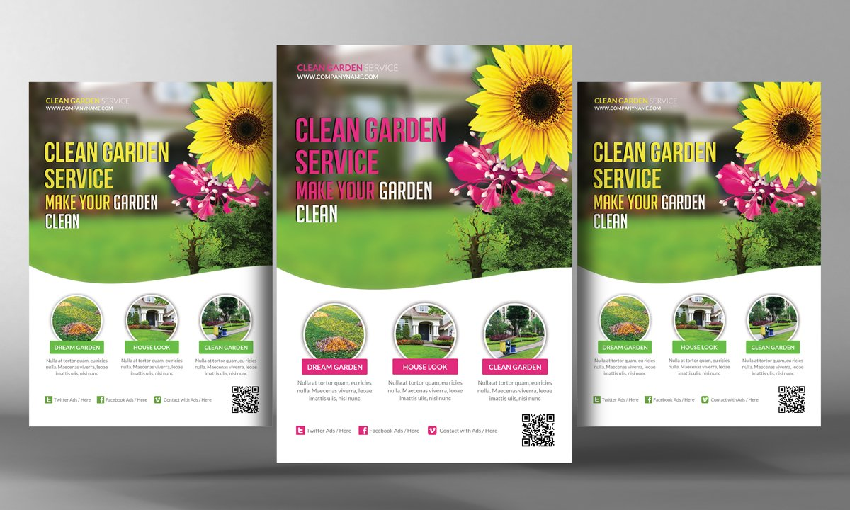 bank flyers photos graphics fonts themes templates creative garden service flyer template