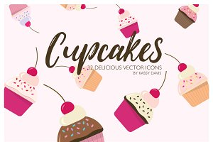 Cupcake Vector Icon Collection