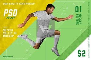 Soccer Volley III PSD Mockup 2$