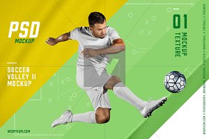 Soccer Volley II PSD Mockup Template