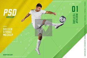Soccer Strike PSD Mockup Template