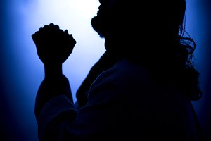 Jesus Christ praying