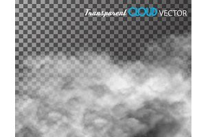 Cloud transparent vector