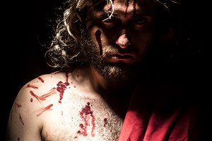 Jesus hit and bled