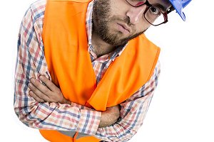 Funny image of worker