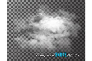 Transparent smoke vector.