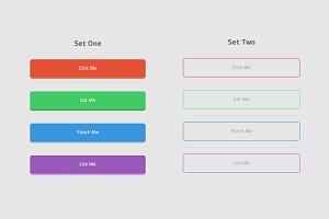 HTML/CSS + PSD Buttons