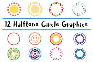 12 Dotted Circle Halftone