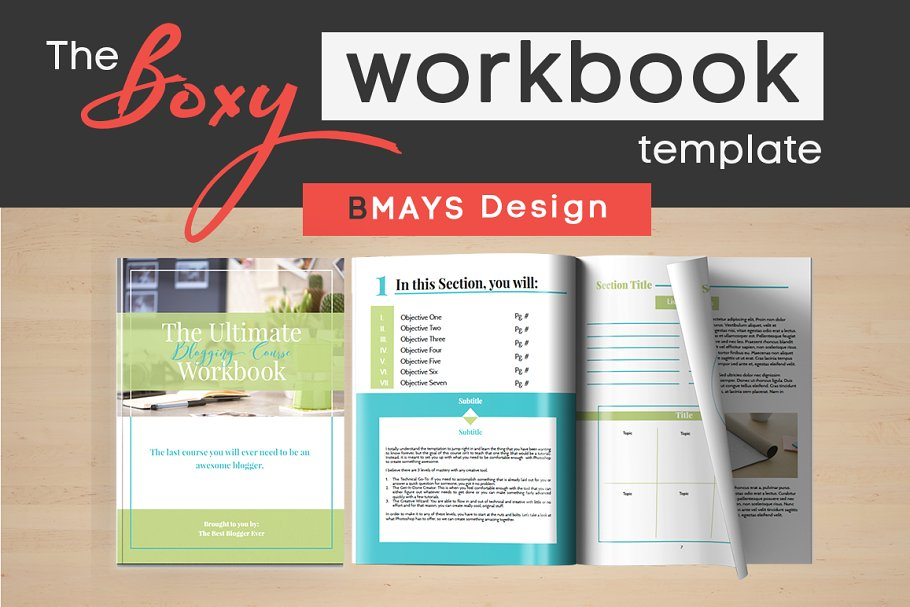 Boxy Workbook & Layout Template ~ Other Presentation ...