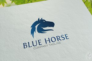 Blue Horse - Logo Template