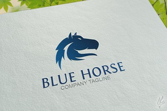 Blue Horse - Logo Template