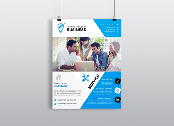 Business flyer template flyer templates creative market business flyer template flyers fbccfo Image collections
