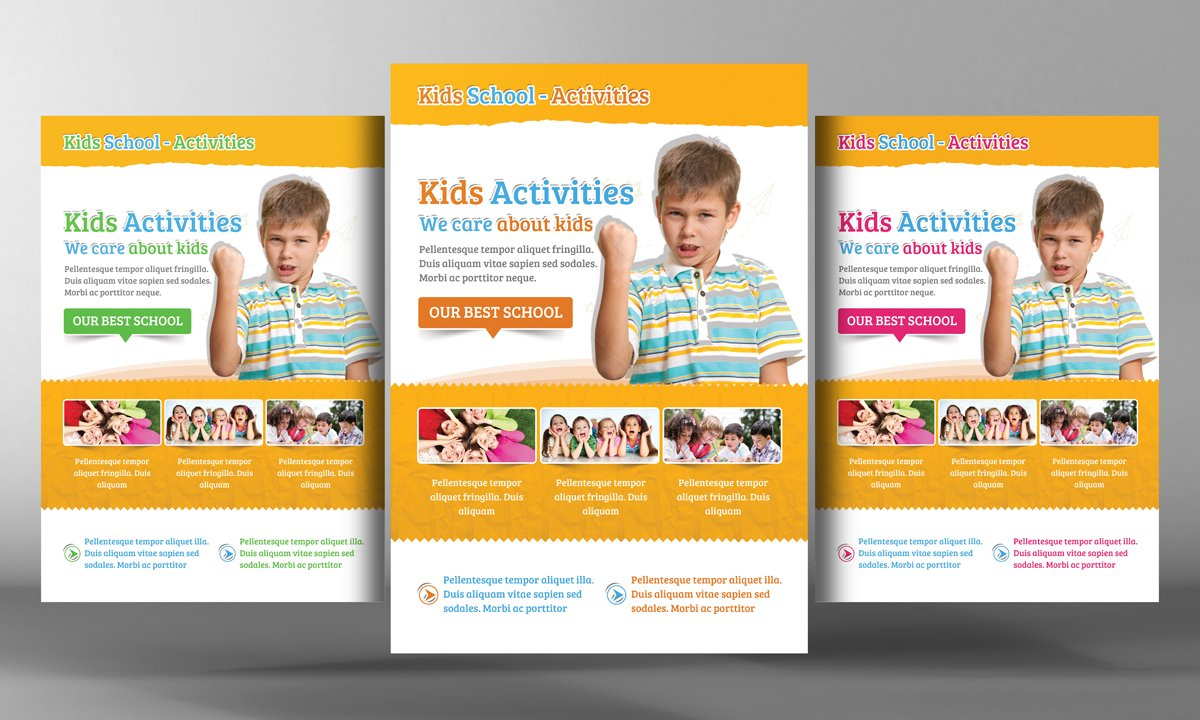 Kids school education flyer template flyer templates for Brochure templates for students