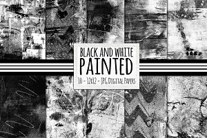 Black & White Painted Textures