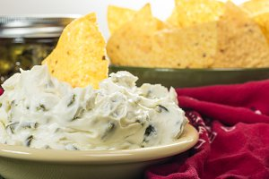 Chips and pepper dip