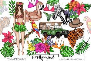 Fashion Tropical Safari Clip Art