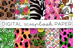 Tropical Safari Digital Papers