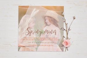 Spring Easter Mini Session Template