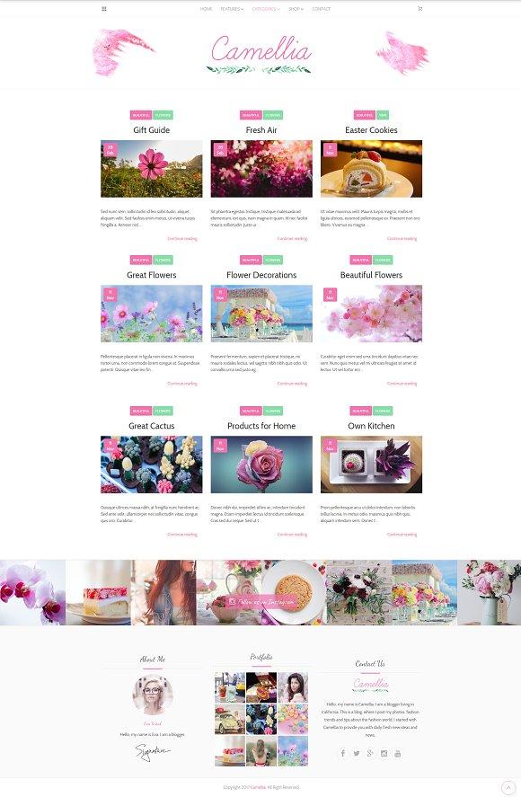 Camellia Minimal WordPress Blog