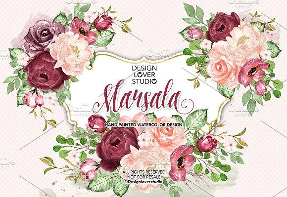 Watercolor Marsala Design