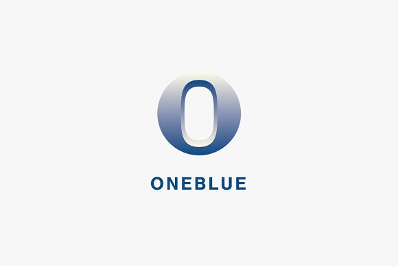 One Blue Logo Template